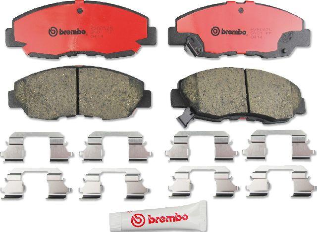 Front Brembo Brake Rotors /& Ceramic Brake Pads Set For Honda Civic 2006-2011