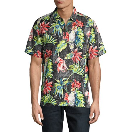 b5e79089 Tommy Bahama - Regular-Fit Tahitian Tweets Camp Silk Button-Down Shirt -  Walmart.com