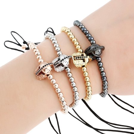 Gold Simple Metal Zircon Charming Bracelets Pirate Shape Fashion Party Jewelry Bangles Rectangular Personality Pendants Halloween Prepared For The - Simple Food For Halloween Party