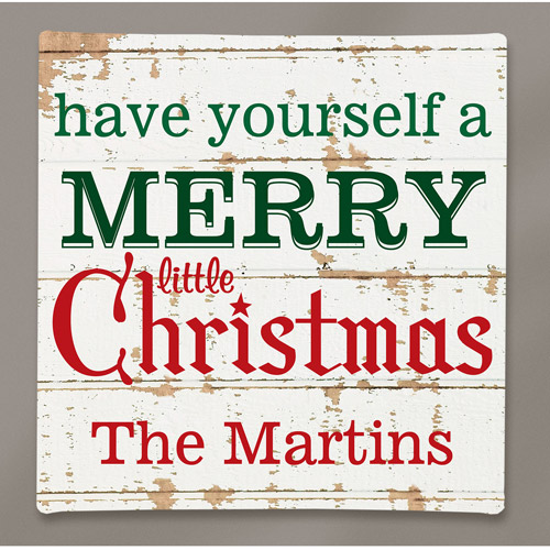 Personalized Merry Little Christmas Canvas