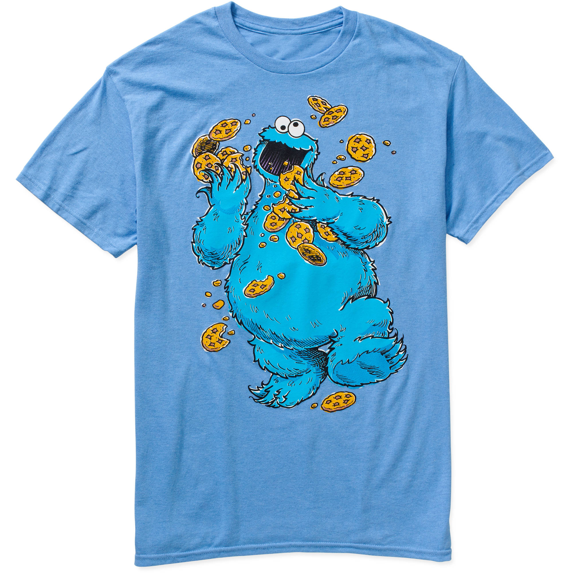 Cookie Monster Cookies Big Men's Graphic Tee