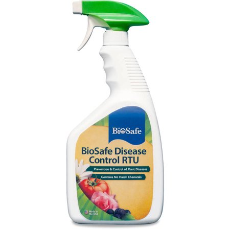 BioSafe Disease Control RTU - 32 oz - Organic Fungicide Bactericide - Ready to Use - OMRI Listed - EPA Registered. Safe for Plants, Flowers, Fruit & Vegetable Gardens.