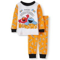 Halloween Sesame Street Baby Boy Long Sleeve Cotton Snug Fit Pajamas, 2-Piece Set