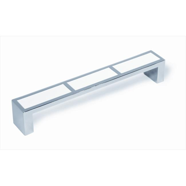 Siro 120-102 Duotones Collection 136 mm. Bright Chrome & White Handle Pull