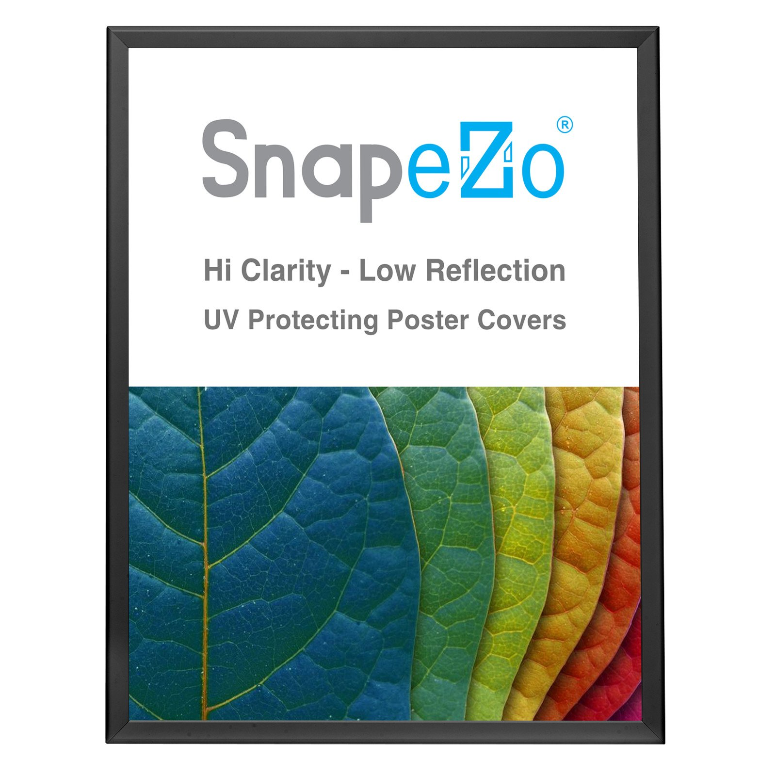 Silver SnapeZo round-cornered snap frame poster size 11x17-1.25 inch profile
