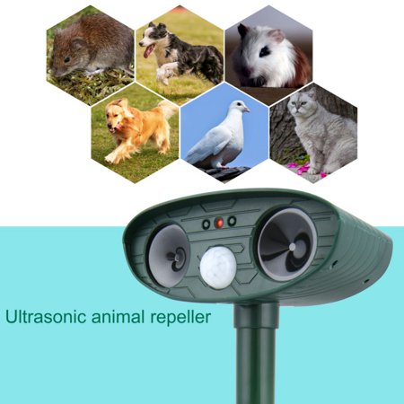 Solar Powered Animal Repeller, Waterproof Outdoor Pest Repeller, Animal Deterrent Repeller With Infrared Sensor Ultrasonic Wave