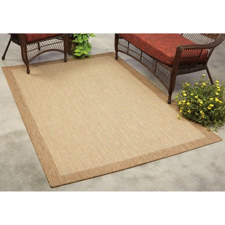Mainstays Herringbone Indoor/Outdoor Rug - Walmart.com