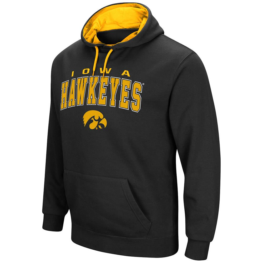 Mens Iowa Hawkeyes Pull-over Hoodie by Colosseum