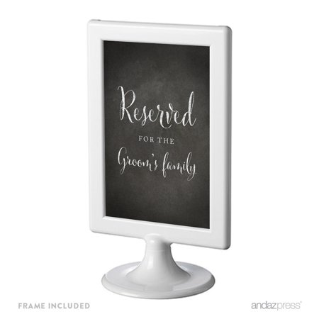 Reserved For The Groom's Family Framed Vintage Chalkboard Wedding Party Signs