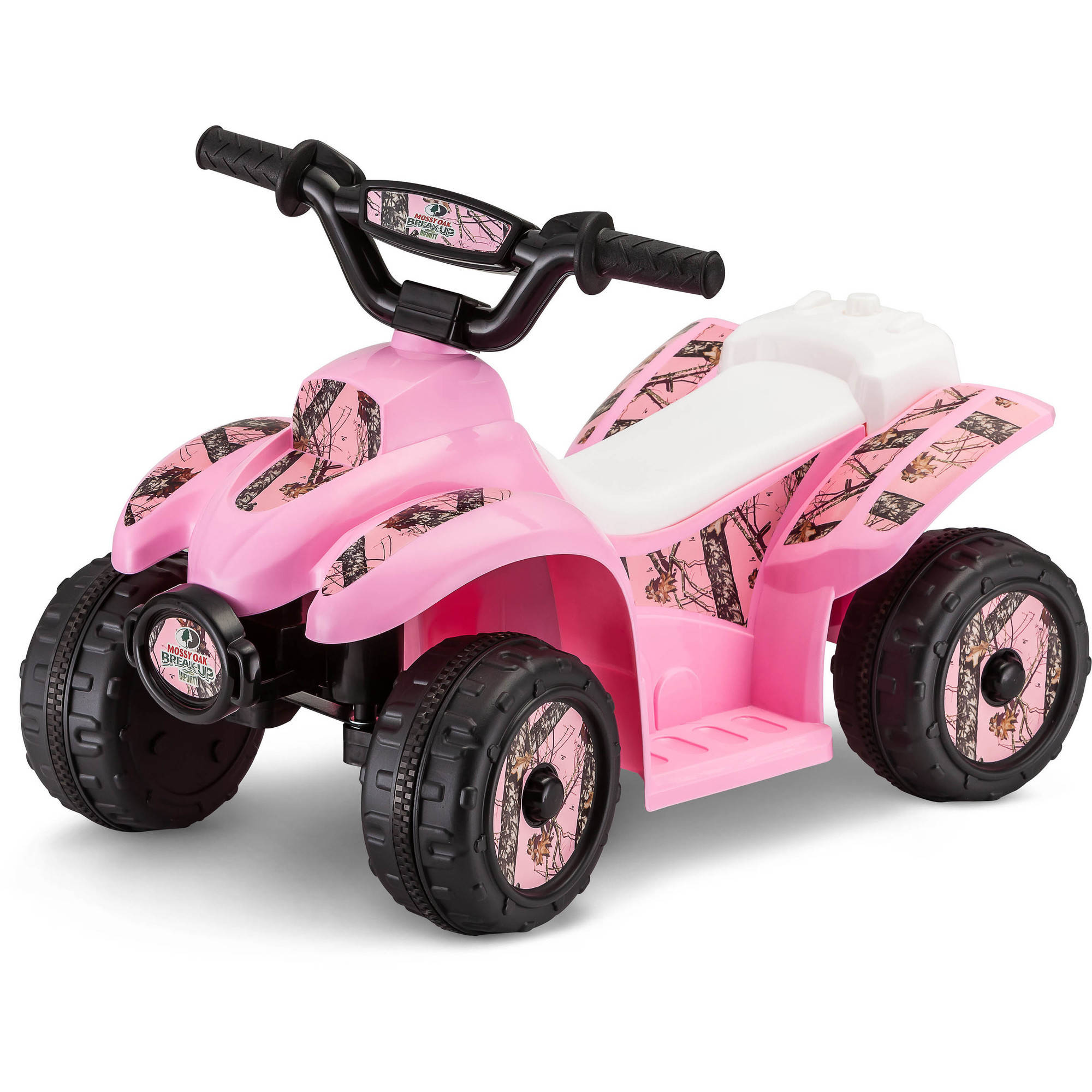 6V Mossy Oak Quad Ride-On, Pink Camo