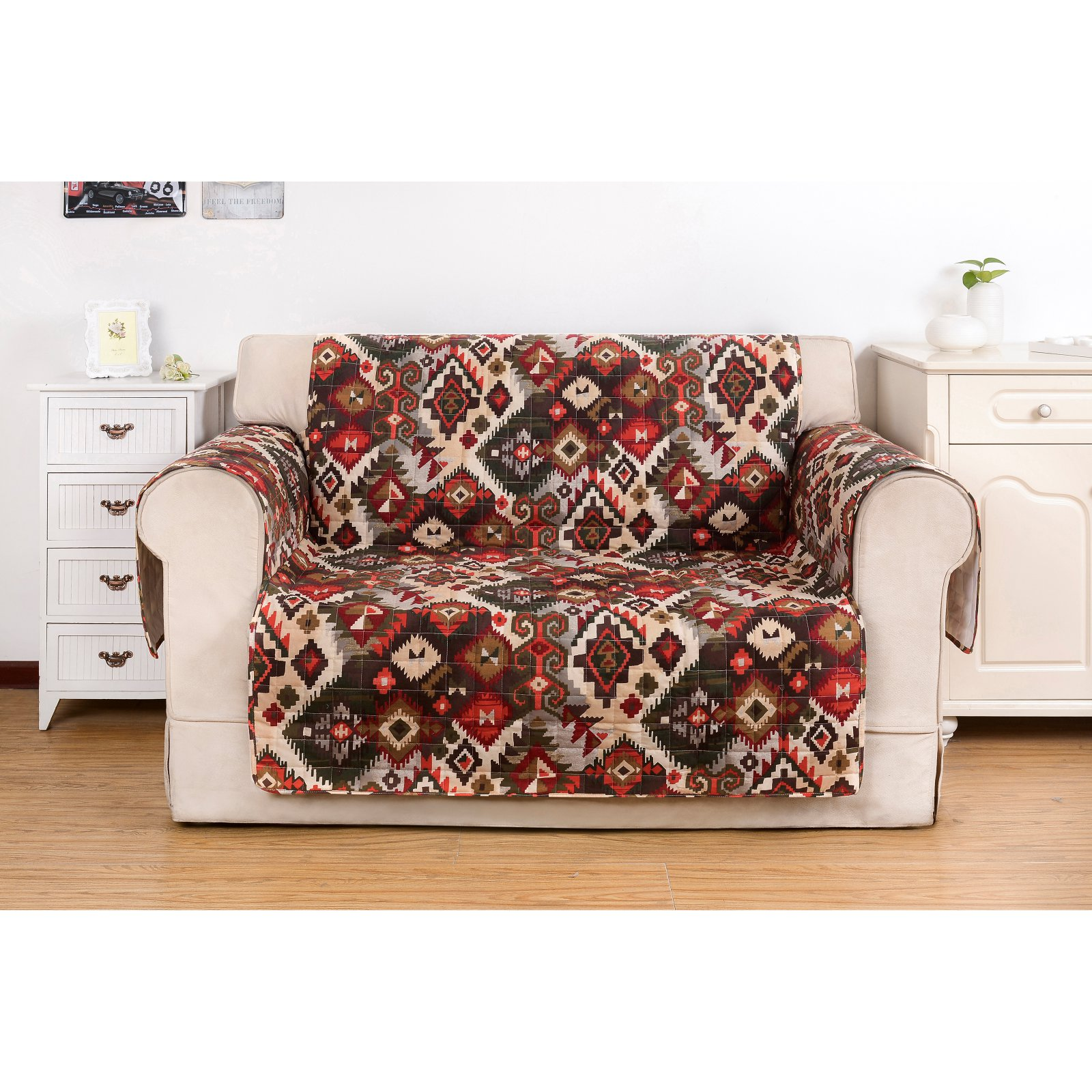 Greenland Home Fashions Folk Festival Loveseat Furniture Protector