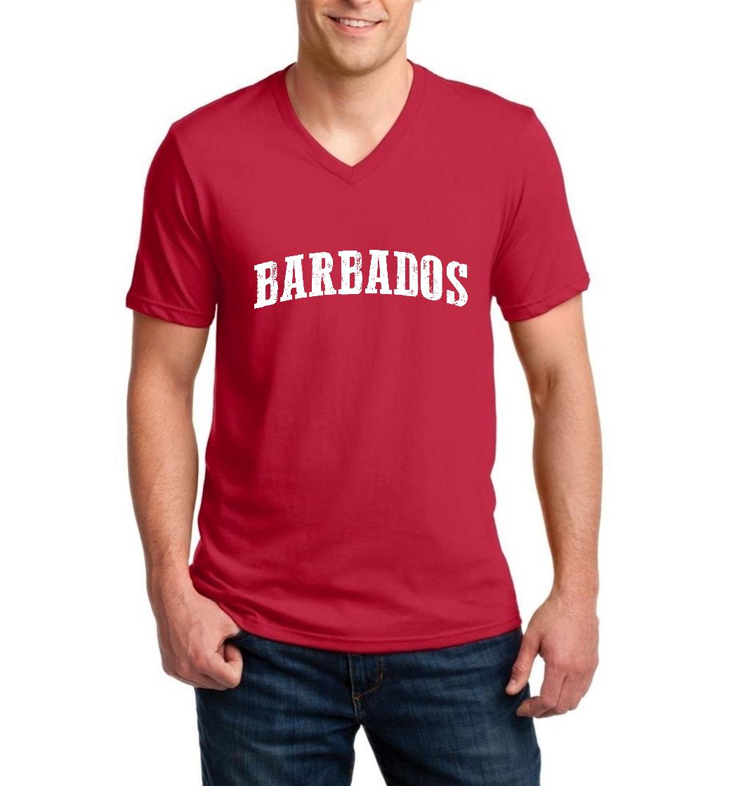 Barbados Barbados Men V-Neck Shirts Ringspun