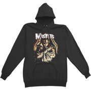 Misfits Men's DEA.D. Alive! Hooded Sweatshirt Small Black