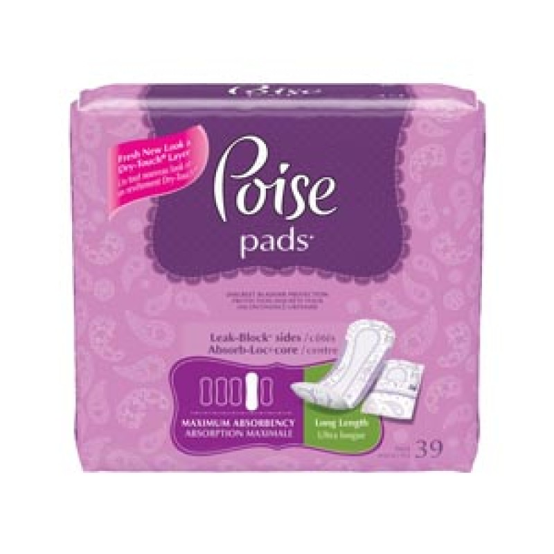 """Poise ultra plus with side shields, maximum long, 14.37"""" l part no. 33591 (39/package)"""