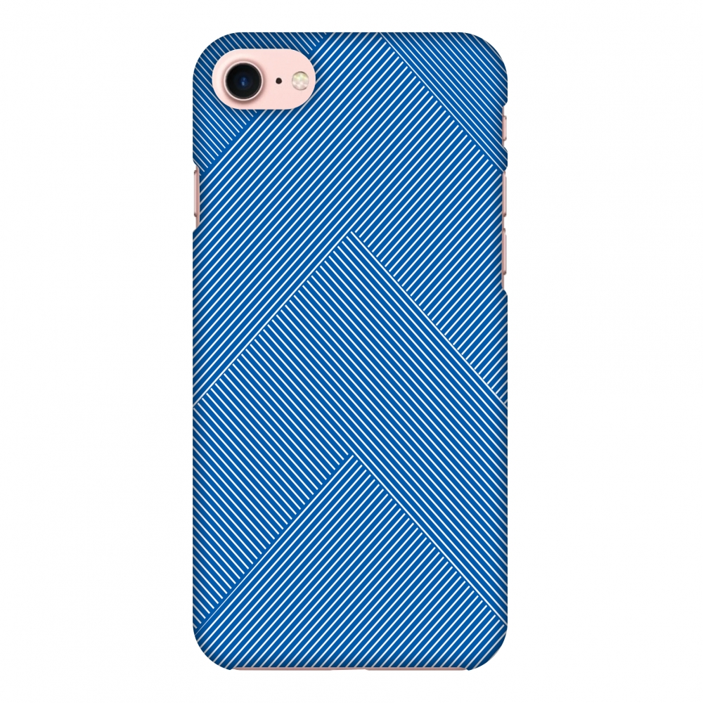 iPhone 7 Case, Premium Handcrafted Designer Hard Shell Snap On Case Printed Back Cover with Screen Cleaning Kit for iPhone 7, Slim, Protective - Carbon Fibre Redux Coral Blue 4
