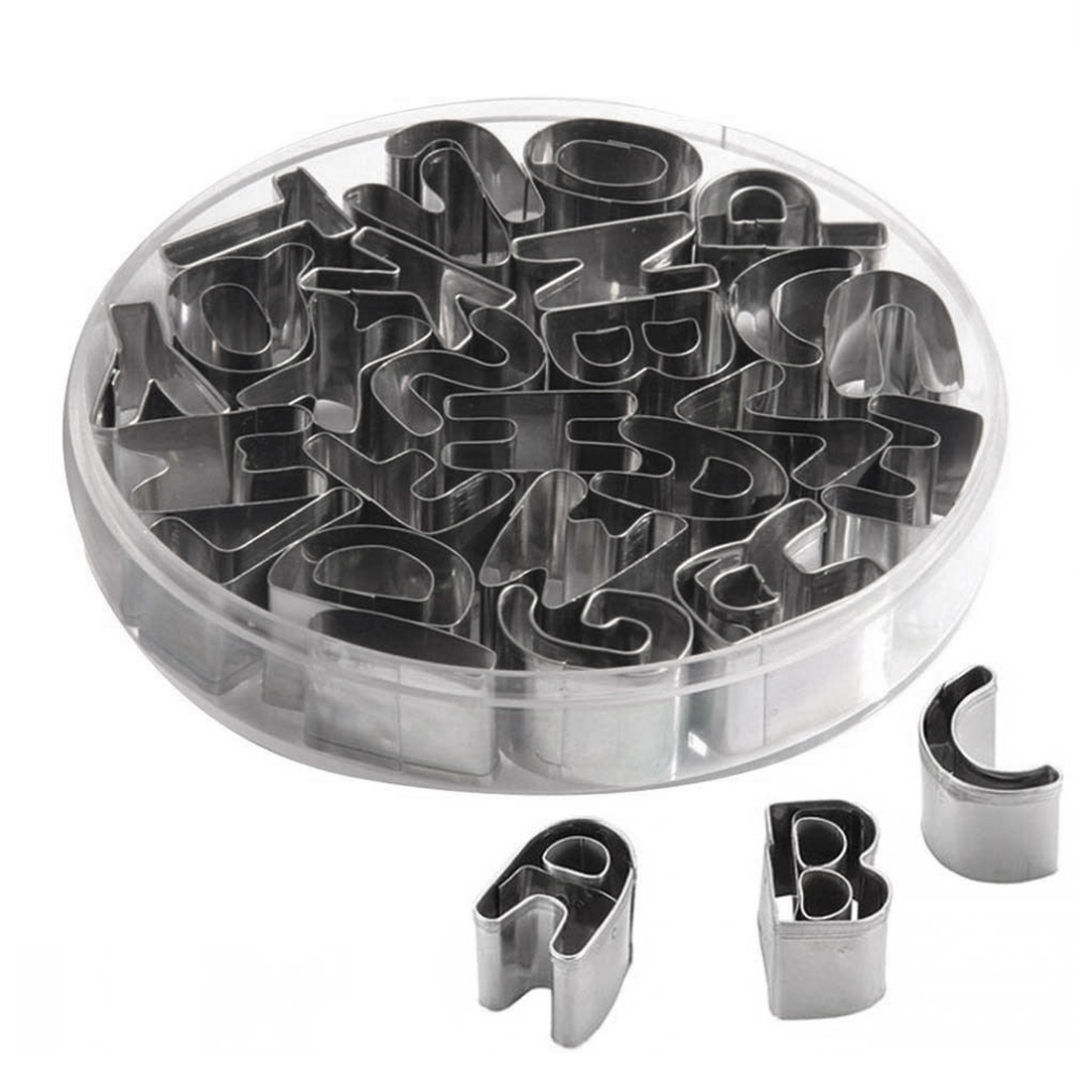 Stainless Steel English Alphabet Letters Cookies Cutters Molds Moulds 26 in 1