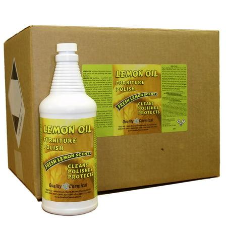Lemon Oil Furniture Polish - Lemon oils, waxes,moisturizers - 12 quart