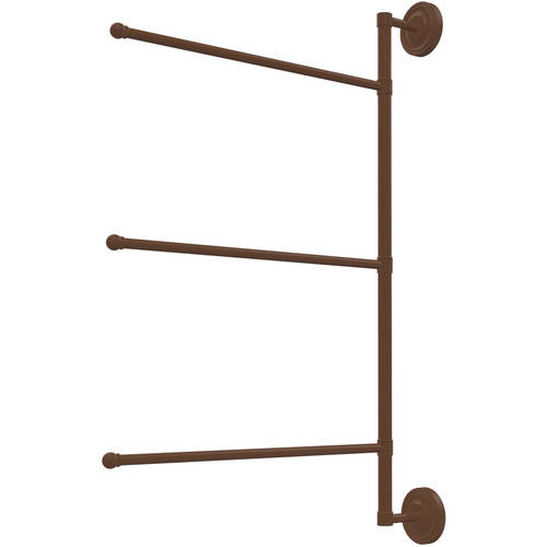 """Prestige Regal Collection 3 Swing Arm Vertical 28"""" Towel Bar (Build to Order) by Overstock"""