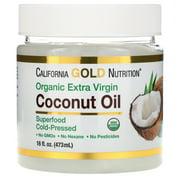 California Gold Nutrition Cold-Pressed Organic Virgin Coconut Oil, 16 fl oz (473 ml)
