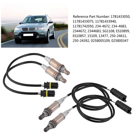 Sonew 4pcs O2 Oxygen Sensor Upstream Downstream For Bmw 323i 325i X3 X5 E39 E46 Oxygen Sensor For Bmw 11781433075