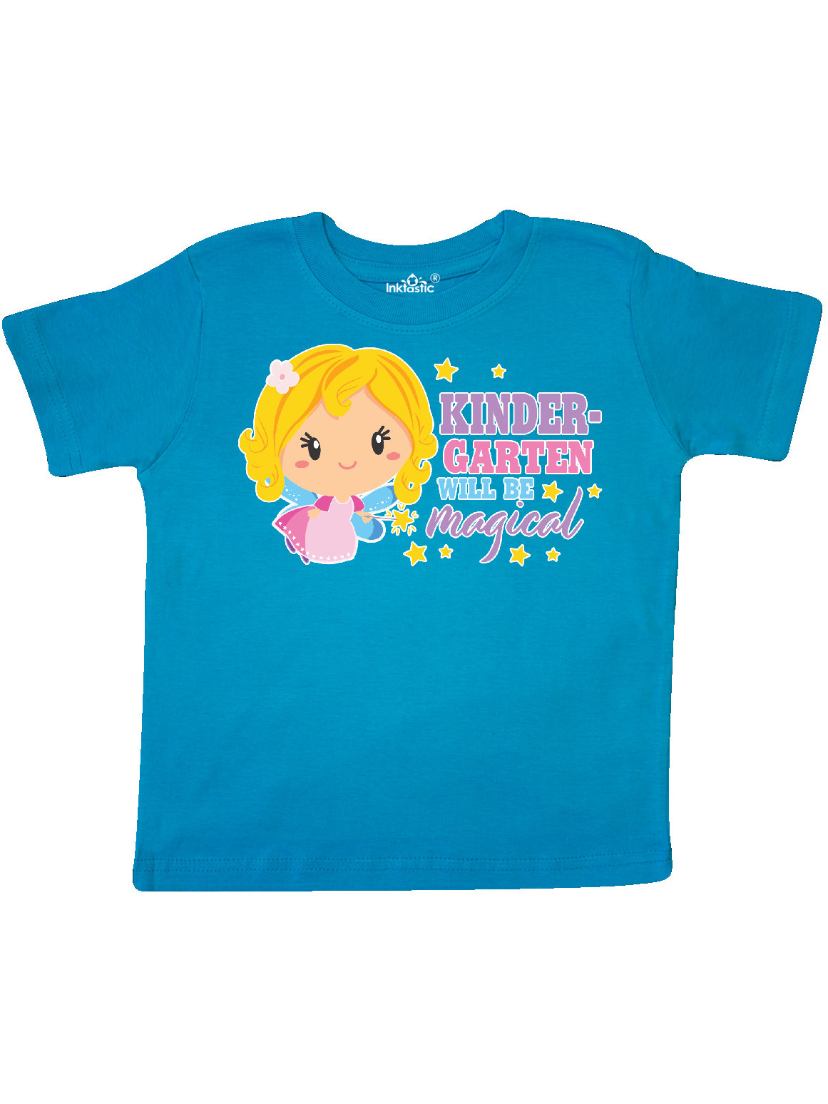 inktastic Preschool Will Be Magical with Blonde Haired Fairy Baby T-Shirt