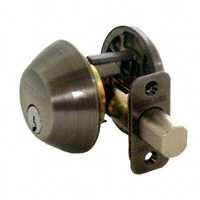 1-CYLINDER DEADBOLT K4 OR BRNZ