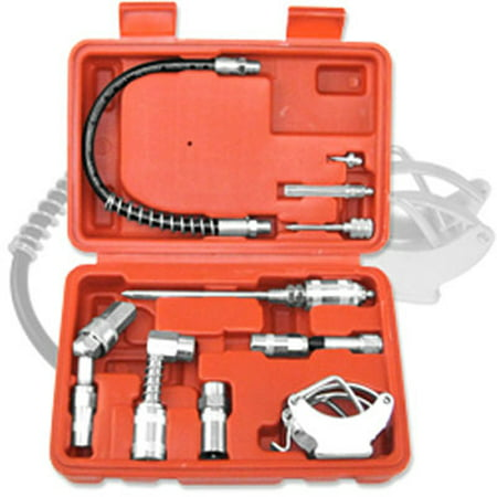 Multi Function Lubrication Grease Gun Kit Hoses Couplers Air & (Best Grease Gun Coupler)