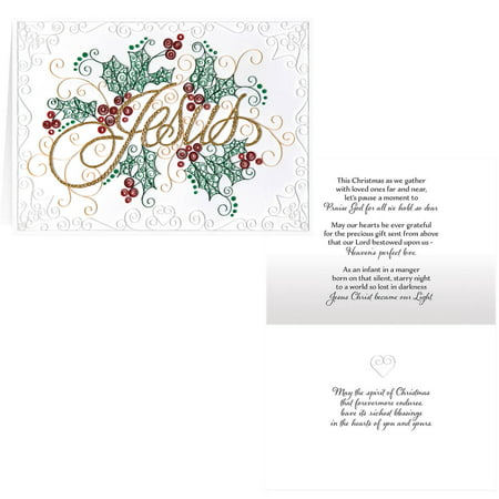 Paper Filigree Christmas Card Set of 20 ()