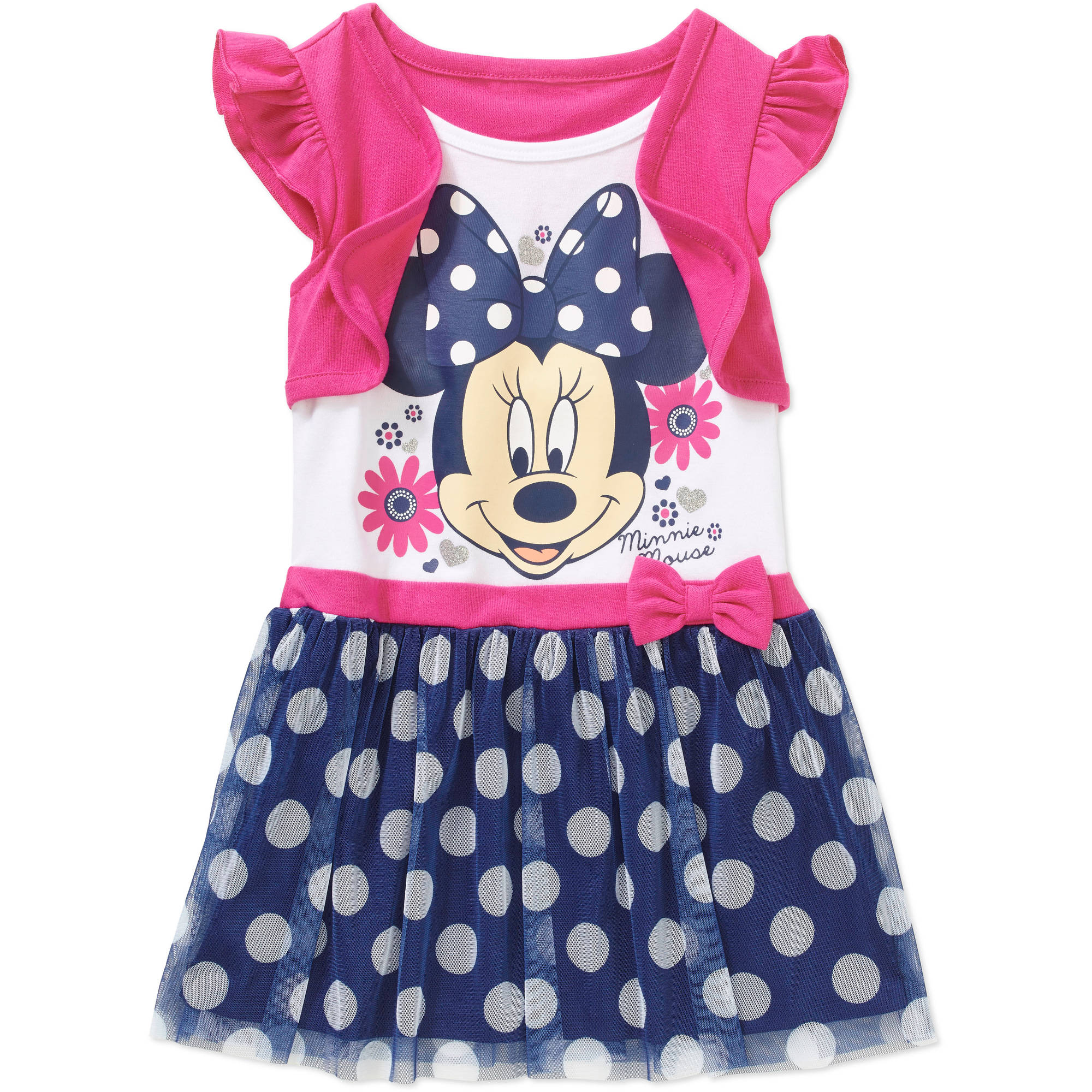 Minnie Mouse Toddler Girl 2-Fer Dress