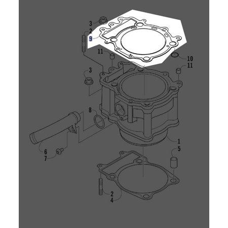 Arctic Cat Gasket Cylinder Head A700 0830-112 New OEM - Walmart com