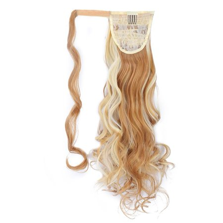 Herwey Long Curly Hair Extension Wig Piece Traceless Invisible Synthetic Ponytail Hair Piece - image 4 of 8