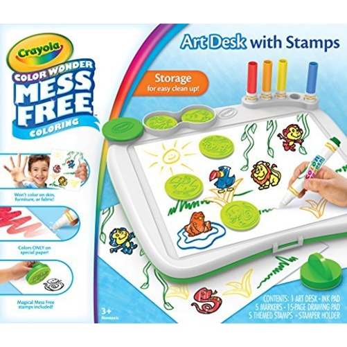 Crayola Color Wonder Mess-Free Art Desk with Stamps by Crayola