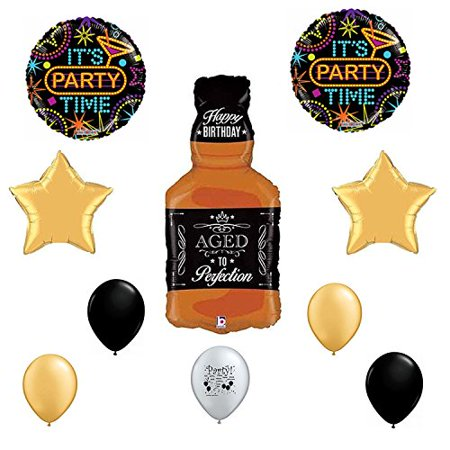Happy Birthday Whisky Aged To Perfection Balloon Decorating Kit