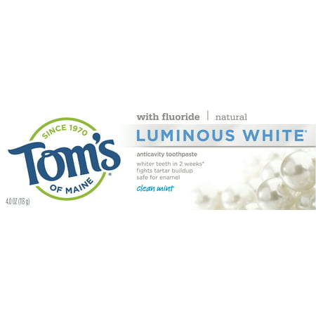 Tom's of Maine Luminous White Toothpaste, Clean Mint, 4.0oz