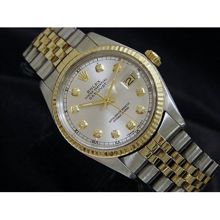 Preowned Customized Rolex Mens Datejust 16013 Two-Tone Watch (Certified Authentic/Warranty)