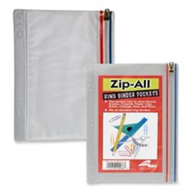 Anglers Company Ltd.  ANG51 Zip All Ring Binder Pocket- 9-. 50inchx6inch- Clear