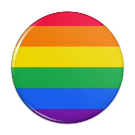 Rainbow Pride Gay Lesbian Contemporary Pinback Button Pin Badge - 1