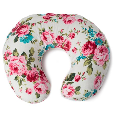 Kids N' Such Minky Nursing Pillow Cover - Best for Breastfeeding Moms - Soft Fabric Fits Snug On Infant Nursing Pillows to Aid Mothers While Breast Feeding - Nursing Pillow Slipcover - White Floral