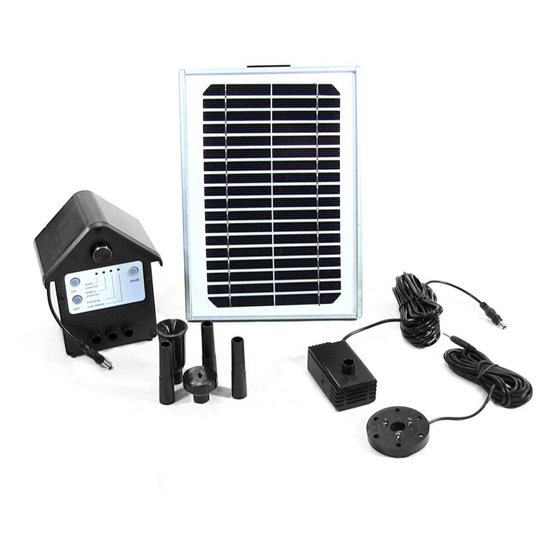Sunnydaze Solar Pump and Solar Panel Kit with Battery Pack by Sunnydaze Decor