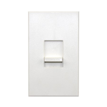 - Lutron Nova Nelv-450-Wh 450W Electronic Low Voltage Single Pole Slide Dimmer, White