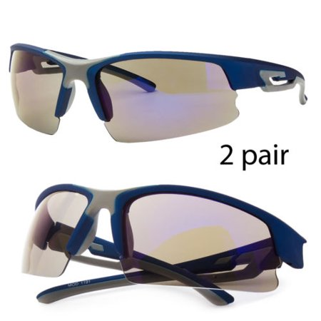 Men's Womens Wrap Around Sunglasses Revo Lens Fishing Golf Running Sport (Womens Running Glasses)