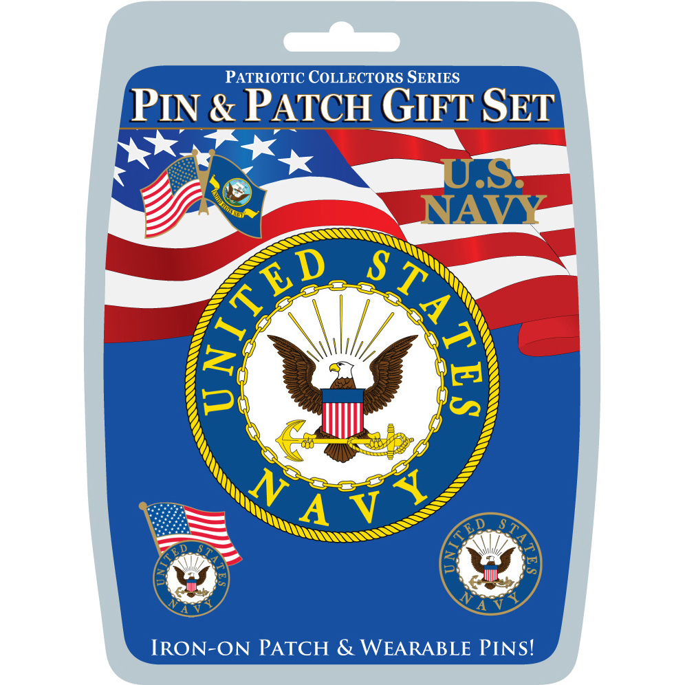 United States Navy Pin & Patch Gift Set
