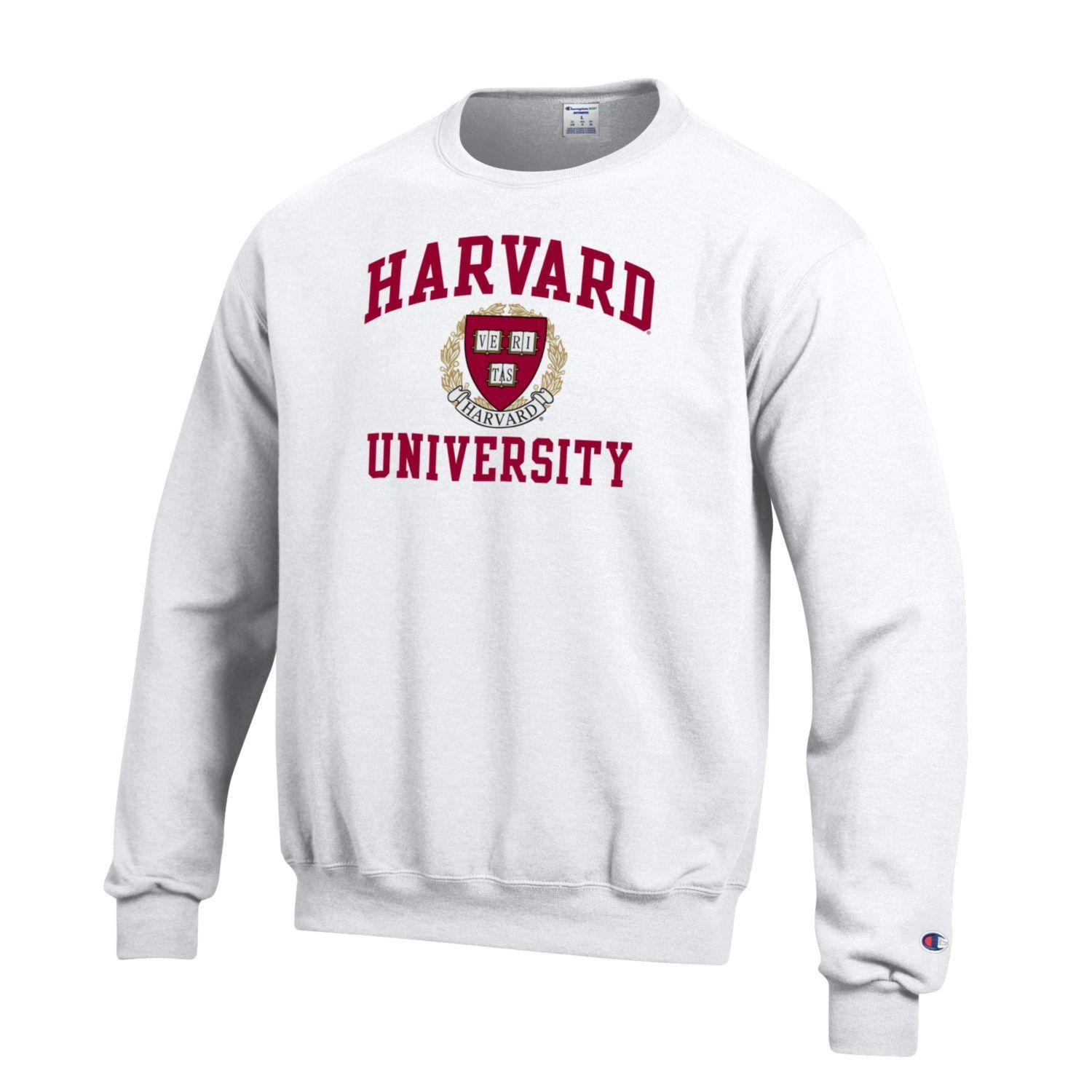 Harvard University Champion Men's Sweatshirt-White