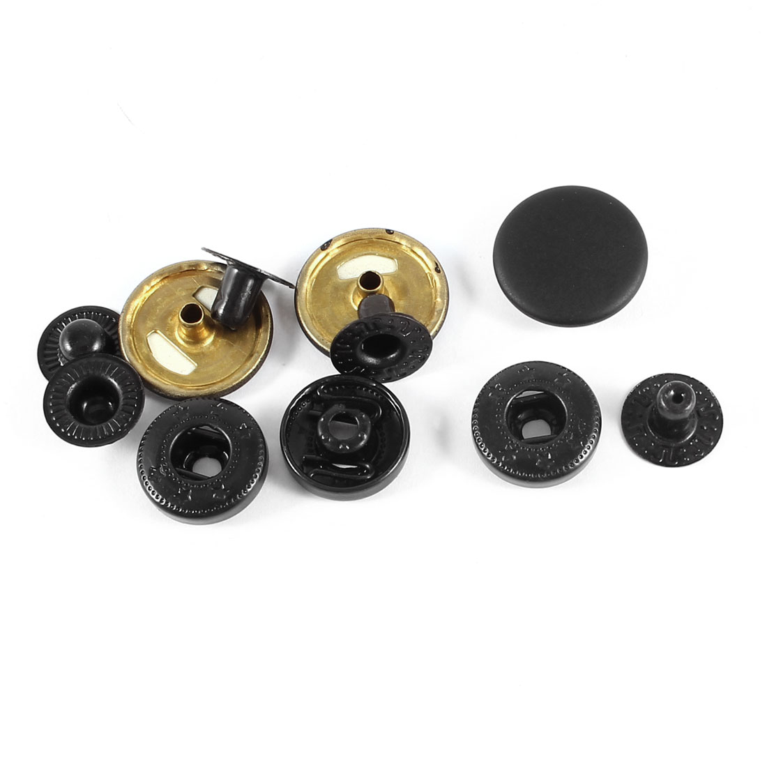 3 Sets 17mm Snap Fasteners Poppers Sewing Leather Button Press Stud Kit Tool
