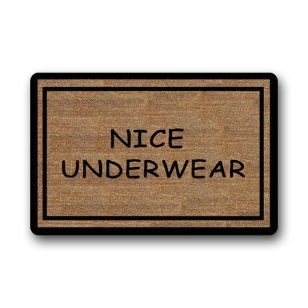 WinHome Funny Nice Underwear Doormat Floor Mats Rugs Outdoors/Indoor Doormat Size 23.6x15.7 inches - Nice Underwear Door Mat
