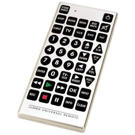 Jumbo Universal TV Remote (Code Search For Emerson Jumbo Universal Remote)