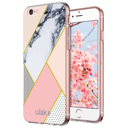 iPhone 6 6S Case,ULAK Marble Pattern Slim-Fit Hybrid Glossy PC + TPU Bumper Case Scratch-Resistant Cover for Apple iPhone 6 (2014) / 6S 4.7 inch (2015) - Pattern Tpu Case