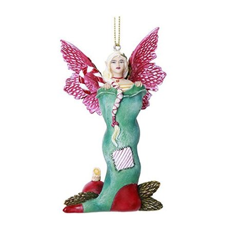 Pacific Giftware Stocking Stuffer Fairy Hanging Ornament Amy Brown Holiday Collection Christmas Tree Hanging Ornaments 4 inch