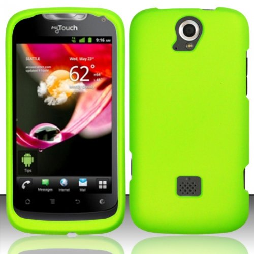 Hard Rubberized Case for Huawei myTouch Q U8730 - Green