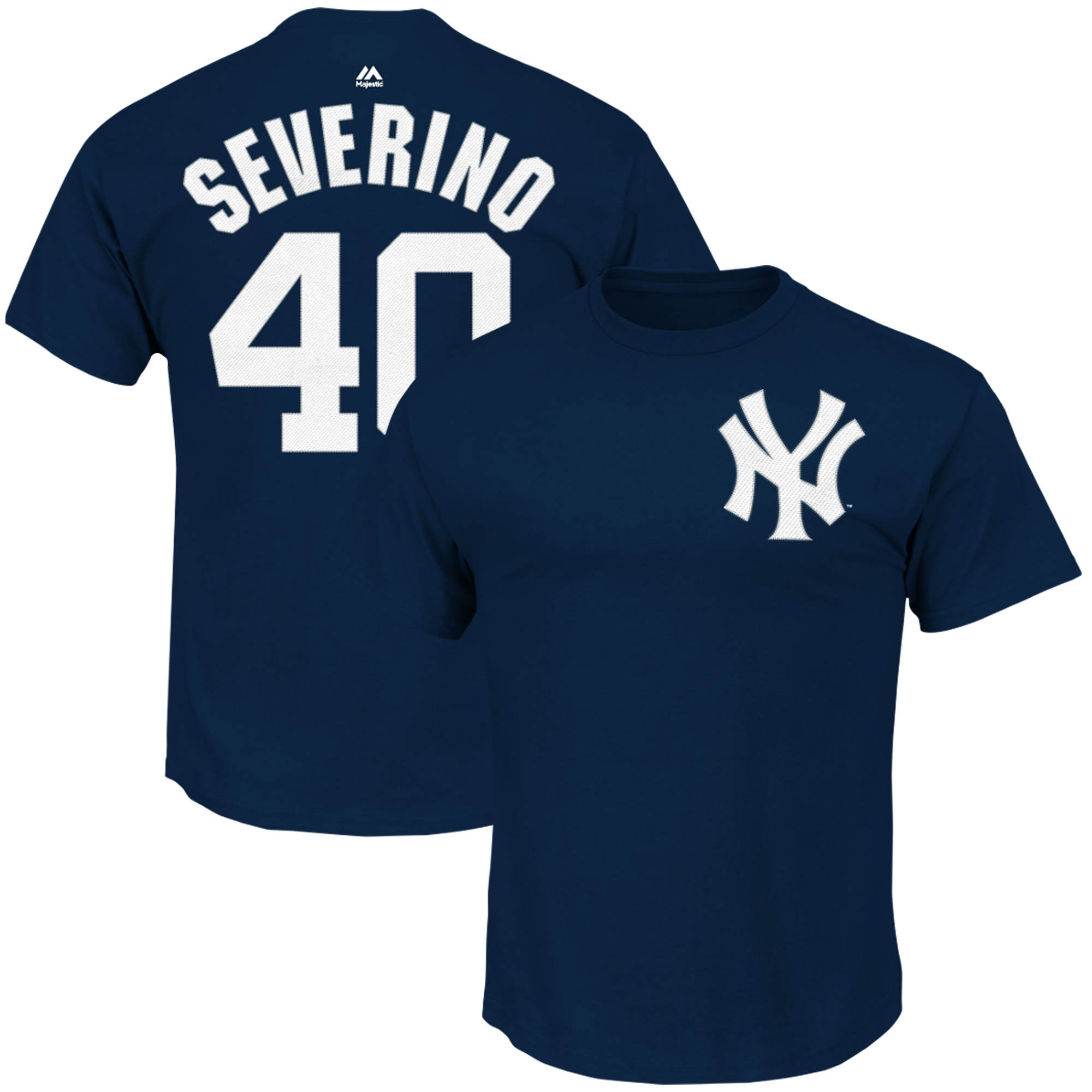 Luis Severino New York Yankees Majestic Official Name & Number T-Shirt - Navy